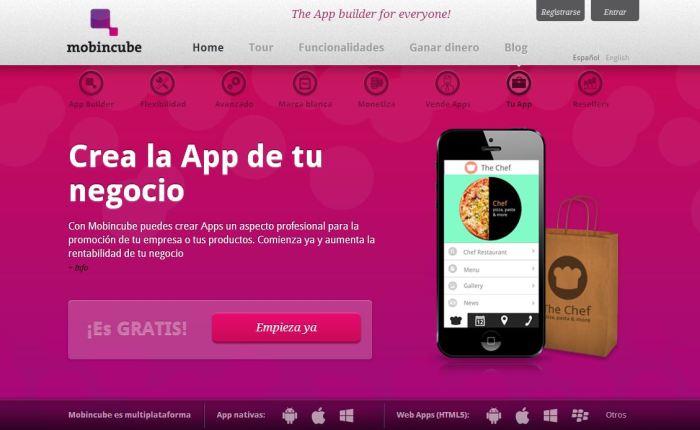 Aplicaciones para móviles (la app de tu empresa conmobincube)