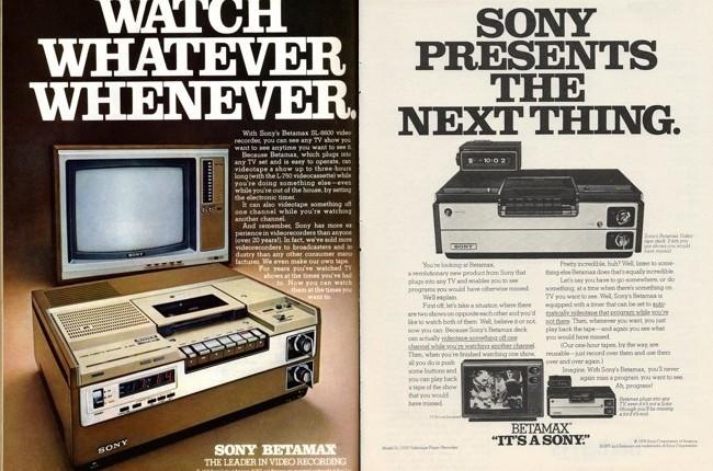 Mi más sentido pésame a Sony, el formato Betamax desde hoy amuerto
